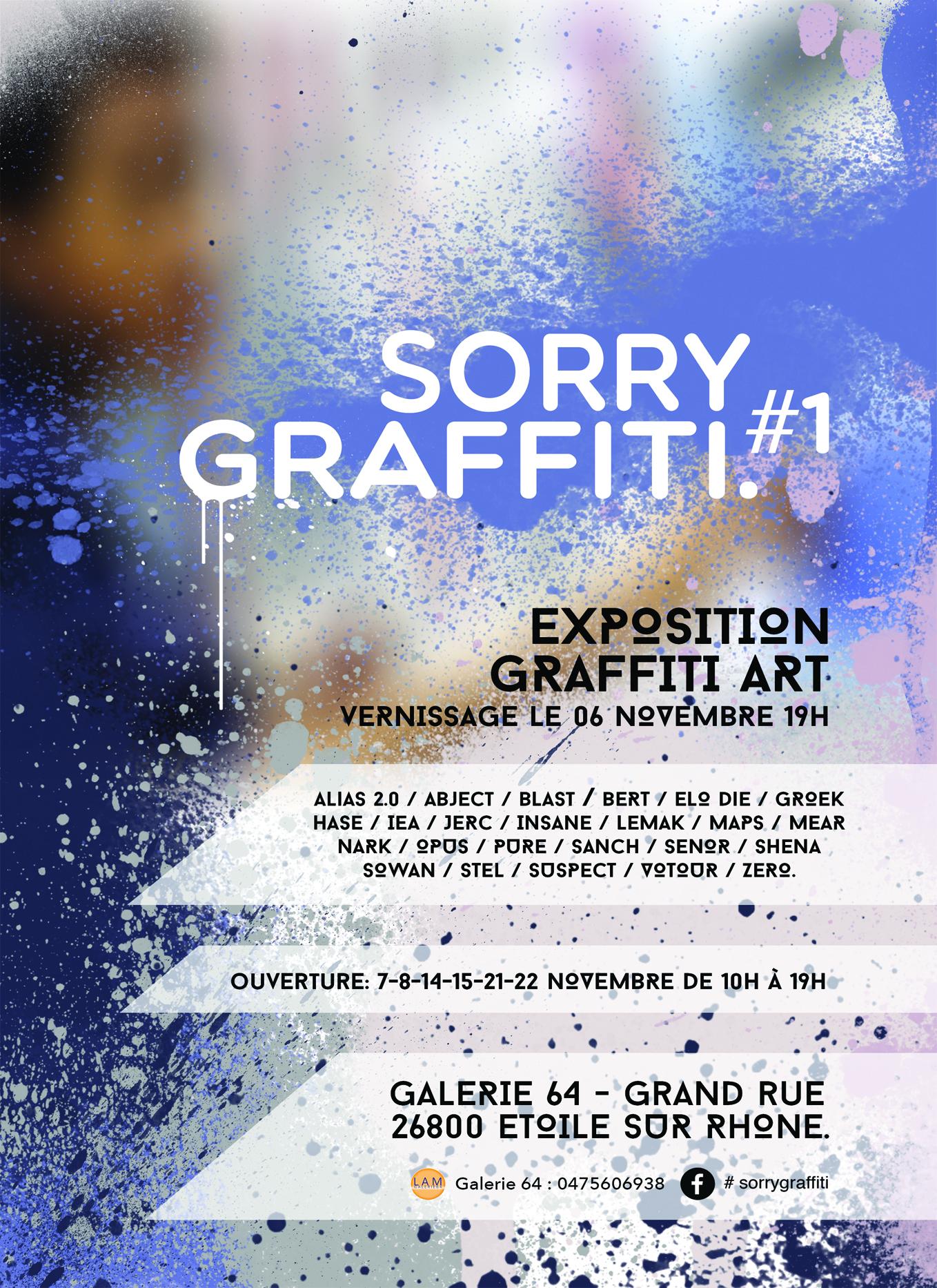 "Exposition ""Sorry Graffiti#1"""