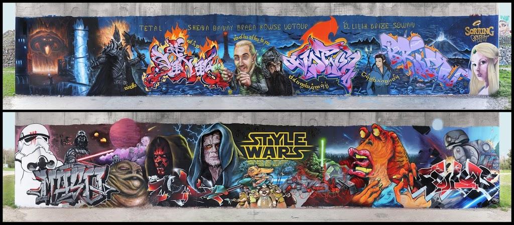 "Fresque ""Tolkien VS Lucas"""