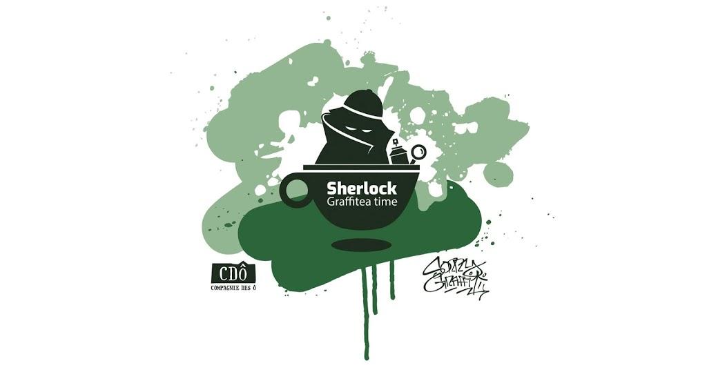 """Fresque """"Sherlock – Graffitea Time"""""""